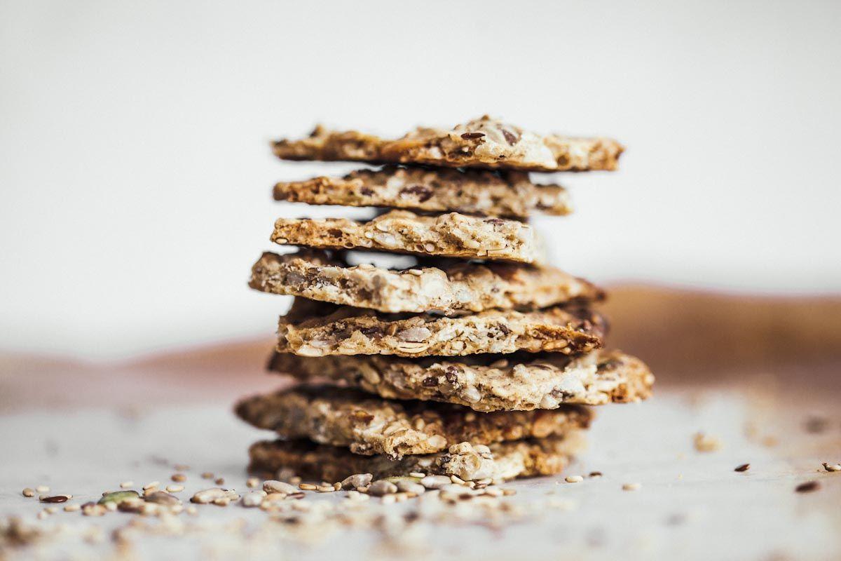Semillas crackers caseras de