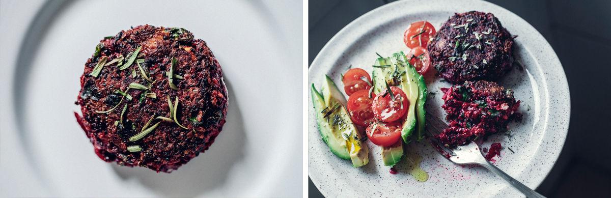 Hamburguesas de remolacha y quinoa negra veggie boogie for Cocinar quinoa negra