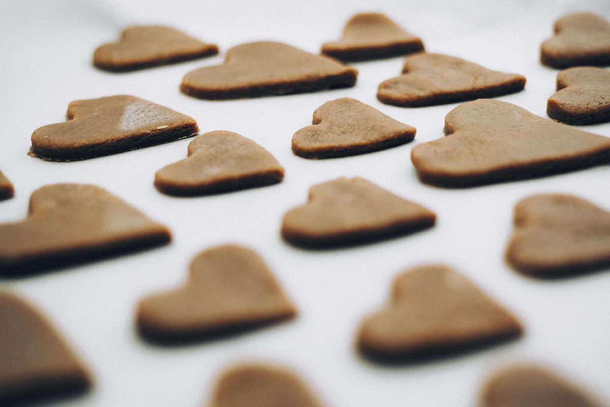 Galletas De Jengibre Canela Y Cobertura De Chocolate